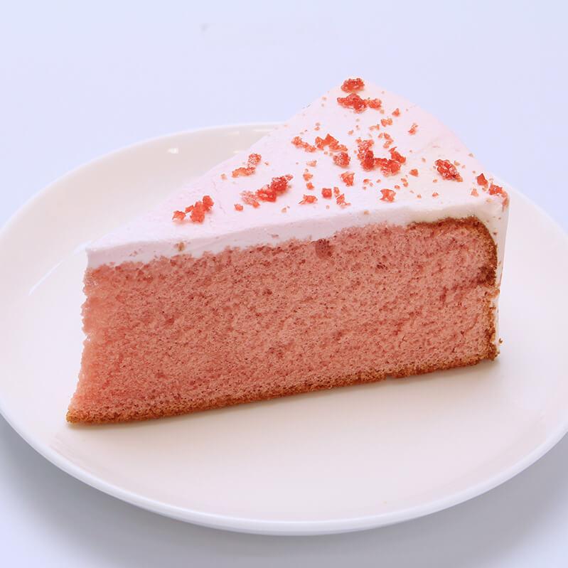 つぶつぶ苺のシフォンケーキ