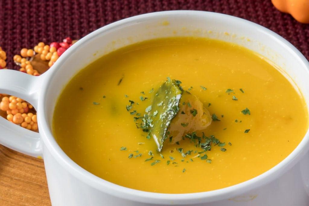スイパラのハロウィン おばけのかぼちゃスープ