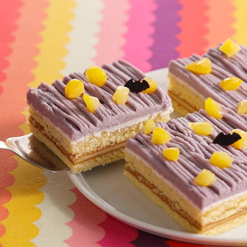 スイパラのハロウィン 紫芋のミイラモンブラン