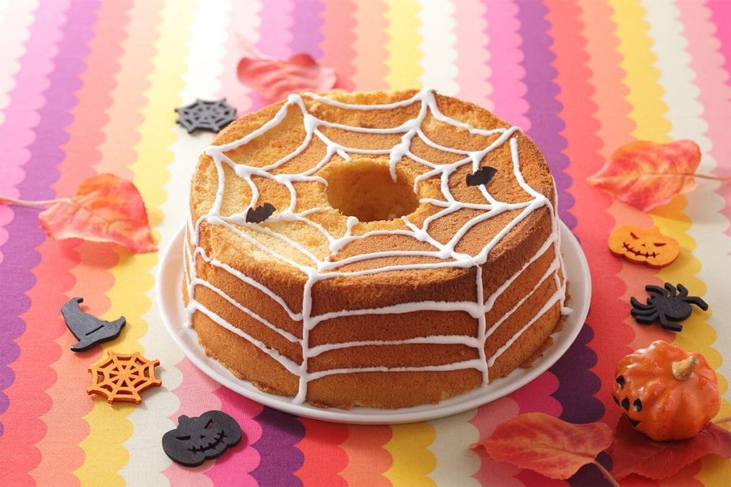 スイパラのハロウィン お芋の蜘蛛の巣シフォン