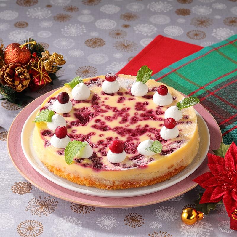 木いちごのベイクドチーズケーキ